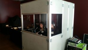 Rent simultaneous translation booths, remote by livestream via facebook