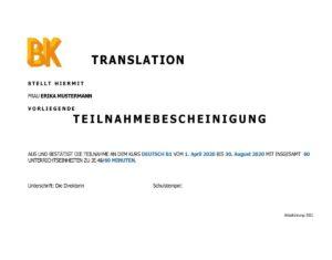 Leistungen und Konditionen Online Deutschtraining muttersprachige Trainer*innen